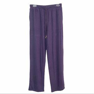 Donna Karan Purple Sleepwear Lounge Pajama Soft Knit
